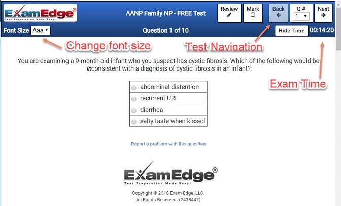 Practice certification tests exam prep examedge test question fandeluxe Choice Image