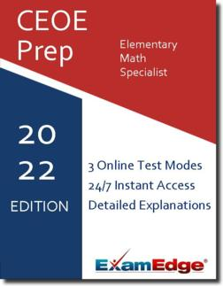 CEOE Elementary Math Specialist Product Image