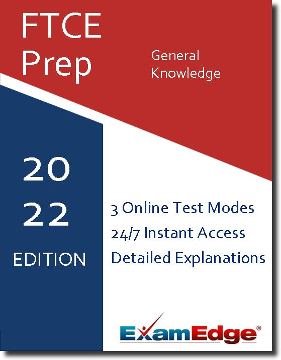 At ExamEdge.com, we place our focus on helping you become as prepared as possible for your certification exam. We want you to walk out of the real exam confident and knowing that your time preparing with ExamEdge.com was a success! Tests like the FTCE General Knowledge exam don't just measure what you know - they are also a test of how well you perform under pressure. The right type of FTCE General Knowledge test prep helps you familiarize yourself not only with the material you're being tested on, but also the format of the test, so you feel less anxiety on test day. That's the kind of valuable experience you'll get with our FTCE General Knowledge practice tests and exam prep! Once you have completed a practice exam, you will have permanent access to that exam's review page, which includes a detailed explanation for each practice question!