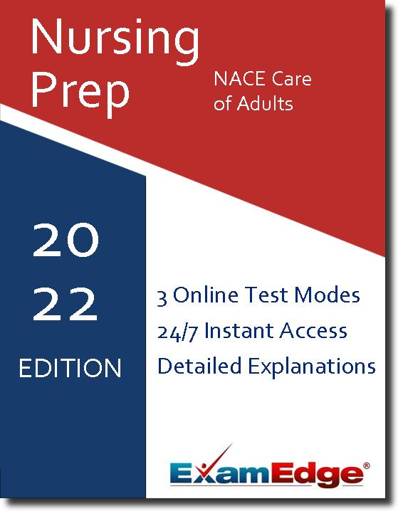 At ExamEdge.com, we place our focus on helping you become as prepared as possible for your certification exam. We want you to walk out of the real exam confident and knowing that your time preparing with ExamEdge.com was a success! Tests like the NACE Care of Adults exam don't just measure what you know - they are also a test of how well you perform under pressure. The right type of Nursing Acceleration Challenge Exam Care of Adults test prep helps you familiarize yourself not only with the material you're being tested on, but also the format of the test, so you feel less anxiety on test day. That's the kind of valuable experience you'll get with our NACE Care of Adults practice tests and exam prep! Once you have completed a practice exam, you will have permanent access to that exam's review page, which includes a detailed explanation for each practice question!