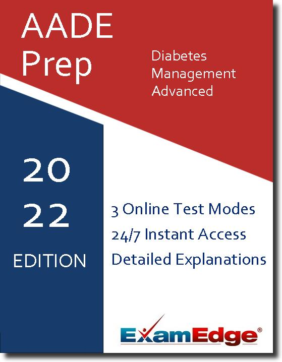 At ExamEdge.com, we place our focus on helping you become as prepared as possible for your certification exam. We want you to walk out of the real exam confident and knowing that your time preparing with ExamEdge.com was a success! Tests like the AADE Diabetes Management - Advanced exam don't just measure what you know - they are also a test of how well you perform under pressure. The right type of AADE Diabetes Management - Advanced test prep helps you familiarize yourself not only with the material you're being tested on, but also the format of the test, so you feel less anxiety on test day. That's the kind of valuable experience you'll get with our AADE Diabetes Management - Advanced practice tests and exam prep! Once you have completed a practice exam, you will have permanent access to that exam's review page, which includes a detailed explanation for each practice question!
